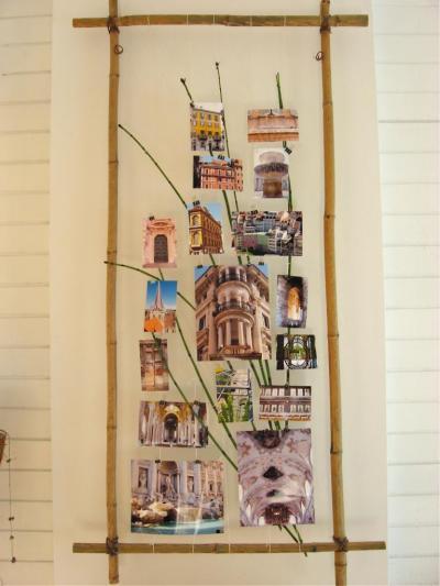 the versatile art frame adorned with travel photos