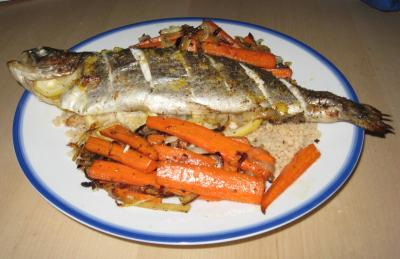Lemon Baked Whole Rainbow Trout