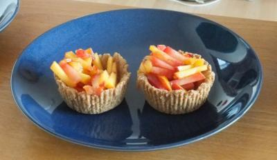 Mini Fruit Tarts Prior to Being Filled With Lime Tofu Cream